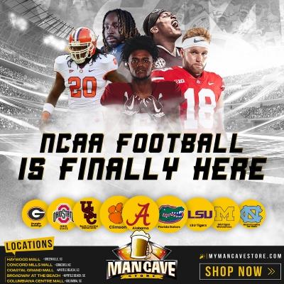 Get ready for the NCAA Football Seasonat Mancave.