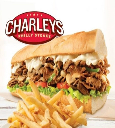 NOW OPEN! CHARLEYS PHILLY STEAKS