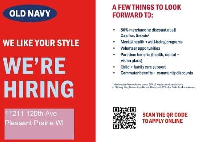Old Navy is Hiring