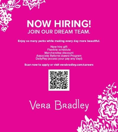 Vera Bradley is Hiring