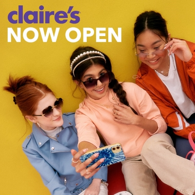 Claire's - Now Open!