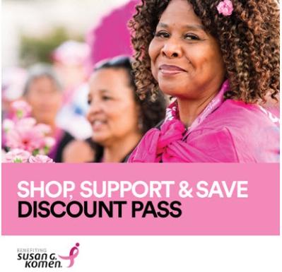 Susan G Komen - Shop Support & Save