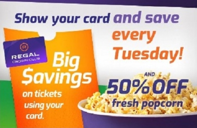 Show Your Card and Save Every Tuesday