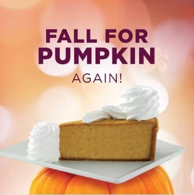Pumpkin Cheesecake is BACK