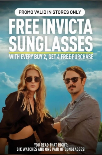 INVICTA - FREE SUNGLASSES