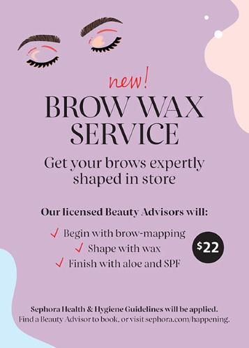 Sephora-Brow Service!