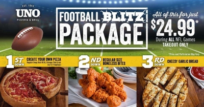 UNO's Football Blitz Packages