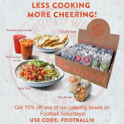 Game Day Discount for World Wrapps Catering