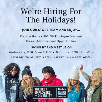 We're Hiring For The Holidays!