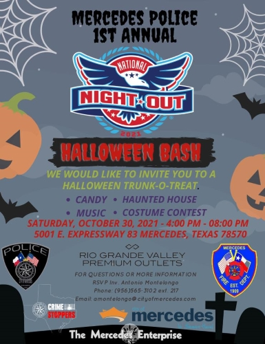 Mercedes Police National Night Out Halloween Bash