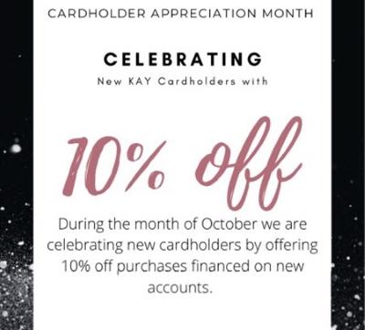Celebrating New Kay Cardholders
