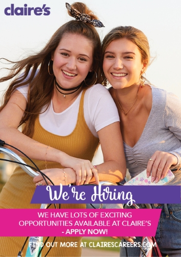 Now Hiring at Claire's!