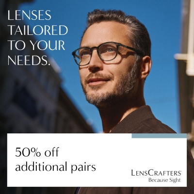 50% off Additional pairs!