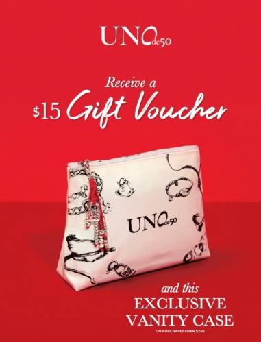 Gift with Purchase offer from UNOde50