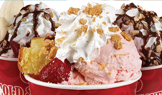 Dining at Cold Stone Creamery