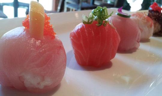 Dining at Kamiyama Sushi at Market Broiler