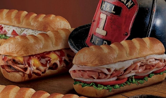 Dining at Firehouse Subs