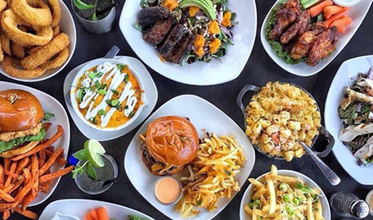 Dining at STACKED, Food Well Built
