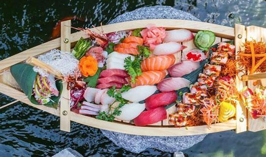 Dining at Osaka Japanese Hibachi Steakhouse & Sushi Bar