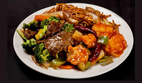 Dining at Kung Pao Wok
