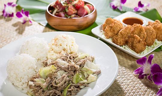 Dining at L&L Hawaiian Barbecue