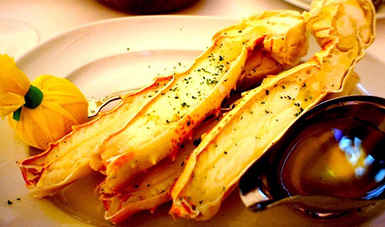 Dining at Mastro's Ocean Club