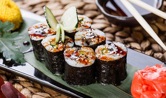 Dining at Sushi Yummy