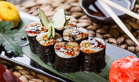Dining at Obox Sushi