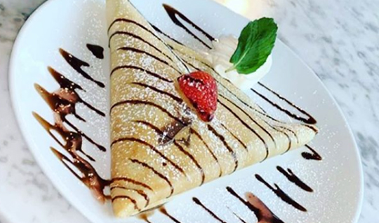 Dining at Sweet Paris Creperie & Cafe
